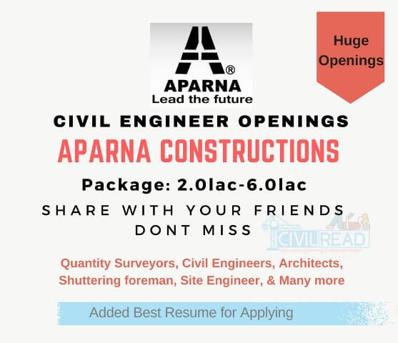 Aparna constructions openings