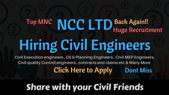 NCC LTD Hiring Civil Engineers
