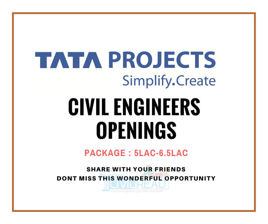 tata projects openings for civil engineers