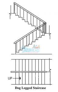 doglegged staircase