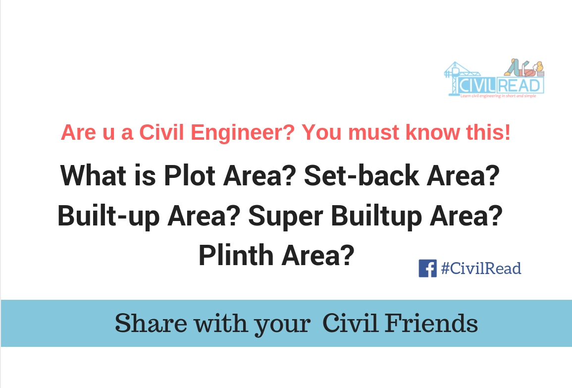 Plot, Builtup, plinth, Setback, carpet, super builtup area