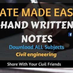 Made Easy GATE Civil Engineering Hand Written Notes