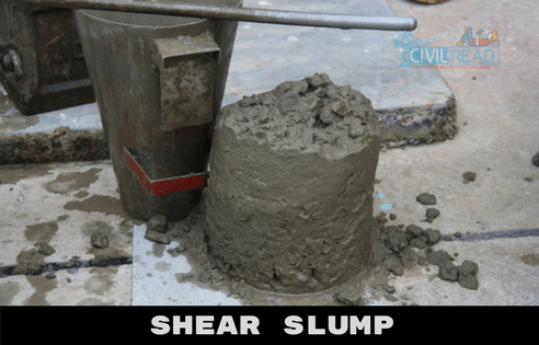 shear slump slump test procedure