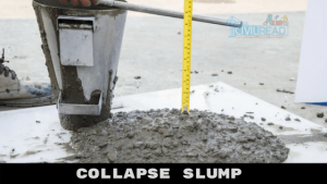 Collapse Slump slump test in concrete
