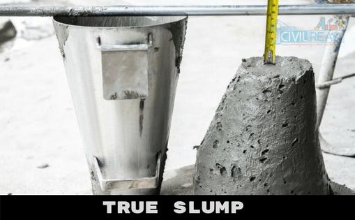 true slump Slump test procedure