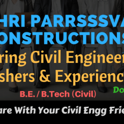 SHRI PARRSSSVA GROUP OF COMPANIES OPENINGS FOR CIVIL ENGINEERS