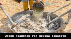quantity of Water is added in M20 grade concrete