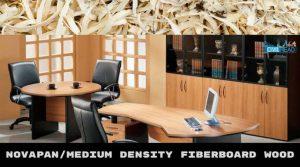 Medium-density Fiber-board / NovaPan Wood (Types of Woods used in construction)