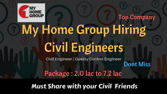 MyHome group Hiring civil engineer