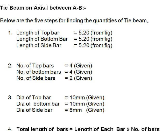 Part  I. Calculate The Total Wt Required For Main Bars