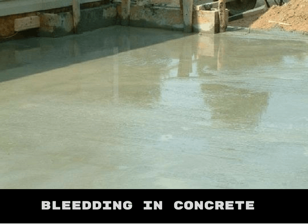 BLEEDING IN CONCRETE