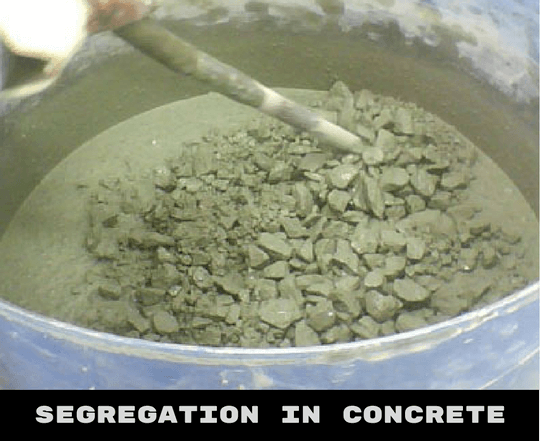 Segregation in Concrete