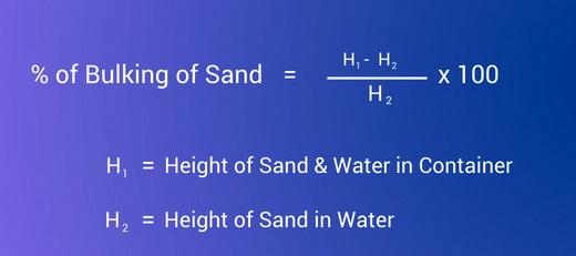bulking of sand formula