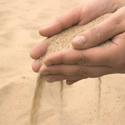 how to check quality of sand on site