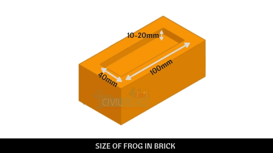 SIZE OF FROG IN BRICK