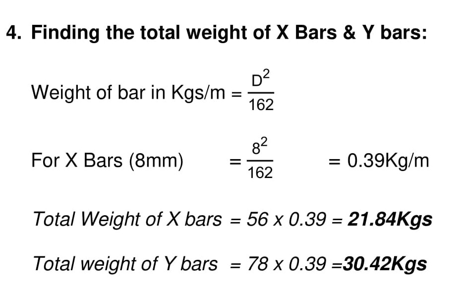 Waist slab calculation