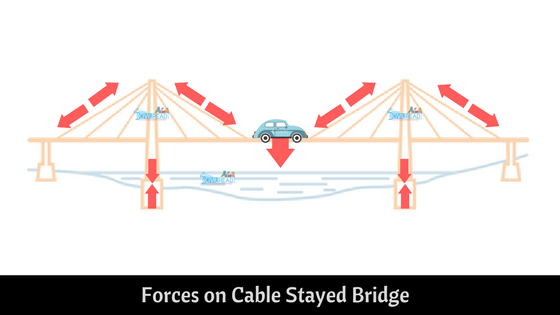 forces on Cable Stayed Bridge