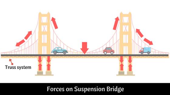 forces on Suspension Bridge