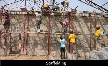 scaffolding for workman