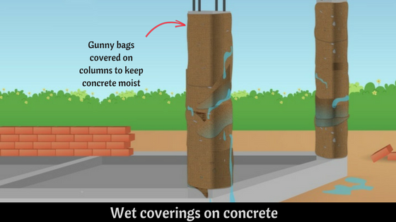Wet coverings on concrete