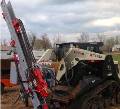 Skid steer drill excavator