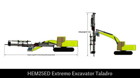 HEM25ED EXTREMO EXCAVADOR TALADRO