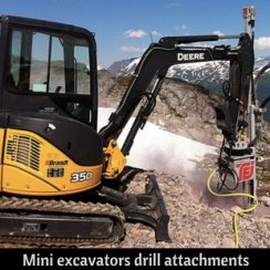 Mini excavators drill attachments