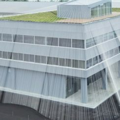 Earthquake resistant building made by japan textile