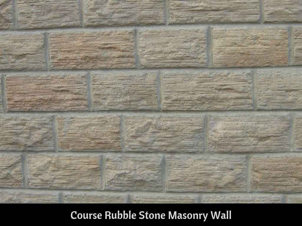 Course Rubble Stone masonry