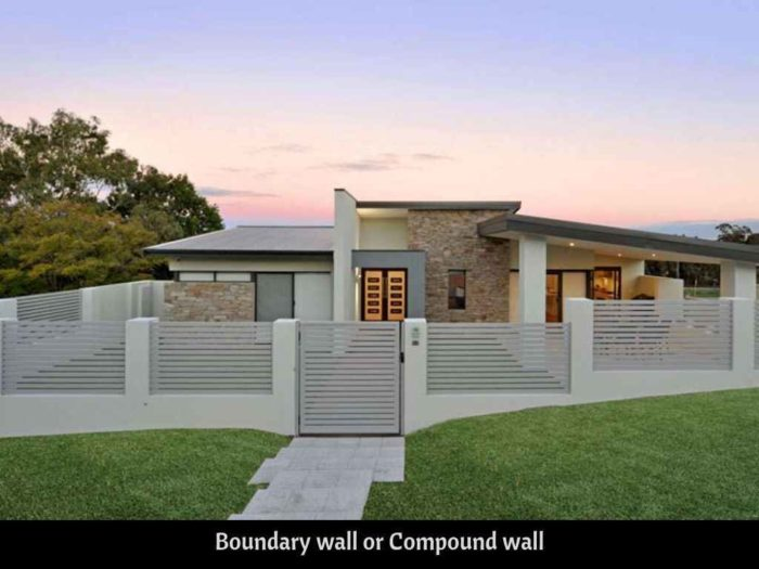 compound wall or boundary wall