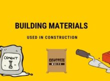 Building Materials used in construction