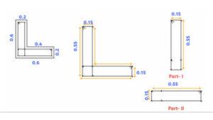 longitudinal reinforcement of L Shape column