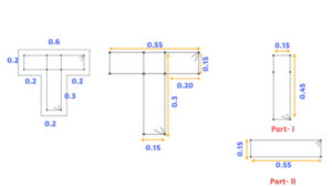 longitudinal reinforcement details of T shape column -I