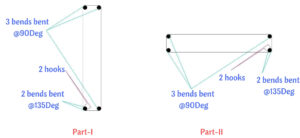 longitudinal reinforcement details of T shape column -II